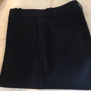 J Crew Navy Trouser Size 2